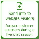 Send information to website visitors, Thakur International